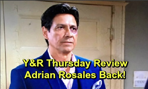 The Young and the Restless Spoilers: Thursday, October 17 Review - Connor Feels The Love - Adrian Rosales Back On The Scene