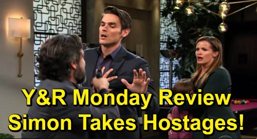 The Young and the Restless Spoilers: Monday, November 11 Review - Chance Not Connected To Katherine's Will - Simon Takes Hostages - Chelsea Panics