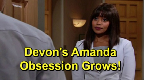 The Young and the Restless Spoilers: Devon's Amanda Obsession Continues - Threatens Relationship With Elena