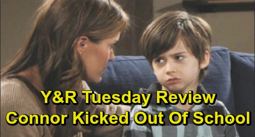 The Young and the Restless Spoilers: Tuesday, December 17 Review - Phyllis Furious After Adam's Proposition - Connor Kicked Out Of School