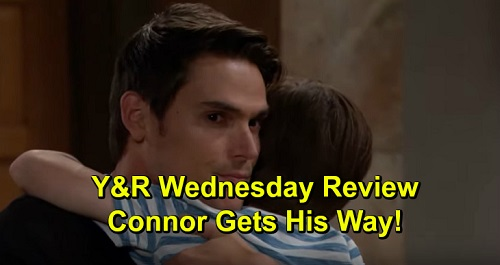 The Young and the Restless Spoilers: Wednesday, October 23 Review - Connor Gets His Way, Goes To Live With Dad - Devon's Big Decision