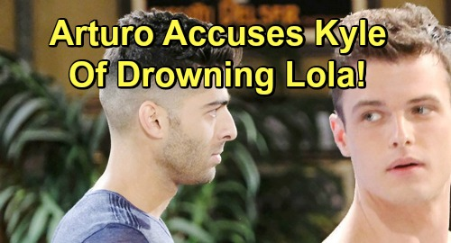 The Young and the Restless Spoilers: Arturo Accuses Kyle of Attempted Murder For Lola's Drowning