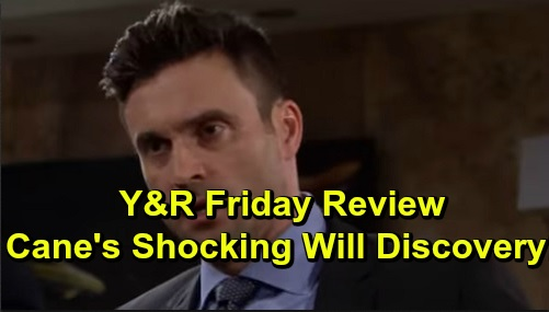 The Young and the Restless Spoilers: Friday, October 18 Review - Connor Gets Aggressive - Cane Gets Katherine's Will Originals