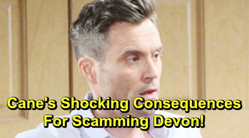 The Young and the Restless Spoilers: Cane's Shocking Consequences for Scamming Devon – Simon and Colin Set Up Shameful Exit