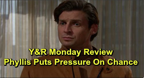 The Young and the Restless Spoilers: Monday, November 18 Review - Phyllis Worries Chance With Vegas Questions - Nick's Political Run Ends