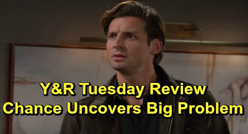 The Young and the Restless Spoilers: Tuesday, November 19 Review - Nate Keeps License - Chance Uncovers Big Problem - Theo Accepts Ashley's Offer