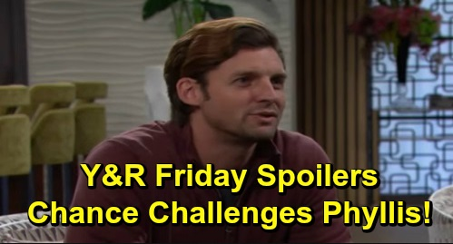 The Young and the Restless Spoilers: Friday, December 13 – Chelsea's Adam Boundaries – Chance Challenges Phyllis – Billy and Amanda Bond