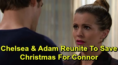 The Young and the Restless Spoilers: Adam and Chelsea Save Christmas for Connor – 'Chadam' Family Overcomes Major Holiday Crisis