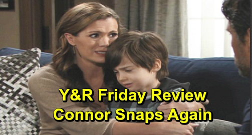 The Young and the Restless Spoilers: Friday, December 13 Review - Connor Melts Down Again - Billy Finds Solace In Amanda - Phyllis Reveals Vegas Details