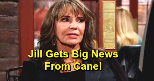 The Young and the Restless Spoilers: Cane's Huge News for Jill – Devon's Fortune Mess Fixed, Katherine's Legacy Restored?