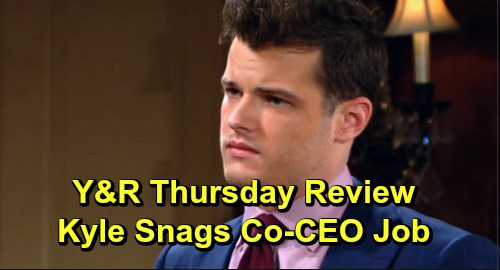 The Young and the Restless Spoilers: Thursday, December 12 Review - Kyle Snags Co-CEO Position - Victor Gives Devon A Dossier On Amanda