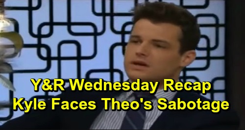 The Young and the Restless Spoilers: Wednesday, December 18 Recap – Kyle Faces Theo's Sabotage Accusation – Billy and Amanda's Affair Talk