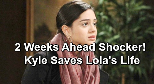 The Young and the Restless Spoilers: 2 Weeks Ahead - Lola Lands in Grave Danger, Kyle Saves Her Life