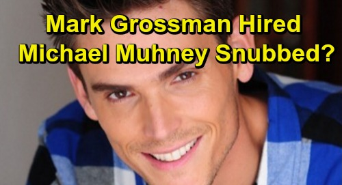 young and the restless spoilers mark grossman adam newman hired