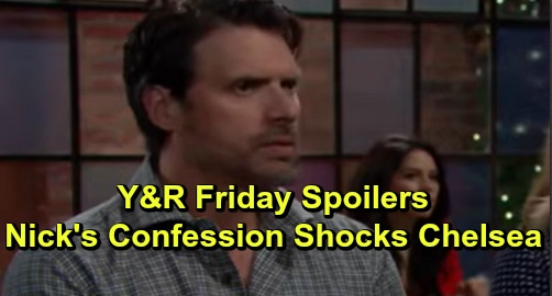 The Young and the Restless Spoilers: Friday, September 27 – Nick's Confession Rocks Chelsea – Summer Blasts Theo – Adam's Suspicious Gift