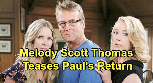 The Young and the Restless Spoilers: Paul Williams On J.T. 's Case - Melody Thomas Scott Tweets Doug Davidson's Possible Return