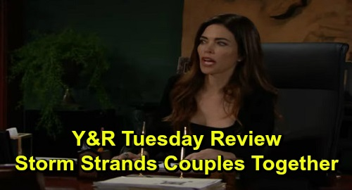 The Young and the Restless Spoilers: Tuesday, December 3 Review - Storm Strands Couples Together - New Friendships Form & Old Memories Resurface
