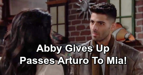 The Young and the Restless Spoilers: Will Abby Give Arturo Back To Mia, Stop Wasting Her Time?