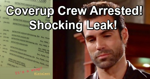 The Young and the Restless Spoilers: Leaked J.T. Murder Arrests - Mug Shots and Meltdowns As Cover-Up Crew Busted