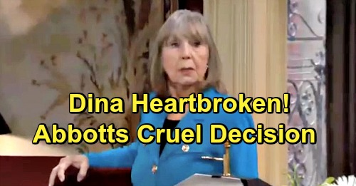 The Young and the Restless Spoilers: Angry Dina Lashes Out at Abbott Abandoners – Feels Family Wants Rid of Her