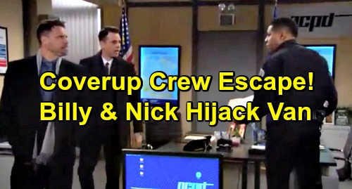 The Young and the Restless Spoilers: Nikki, Victoria and Sharon Escape from Prison Transport Van – Billy and Nick's Hijack Plot