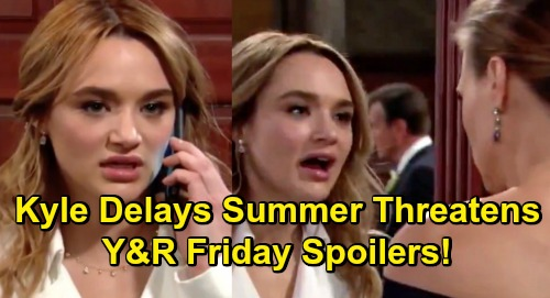 The Young and the Restless Spoilers: Friday, March 15 – Summer Threatens As Kyle Delays Wedding – Lola's Life on the Line