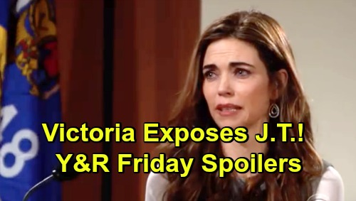 The Young and the Restless Spoilers: Friday, March 8 – Victoria Shares J.T. Violent Abuse on the Stand – Nick and Billy's Phyllis Plot