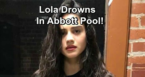The Young and the Restless Spoilers: Lola Drowns in Abbott Pool, Rushed to Hospital in Critical Condition