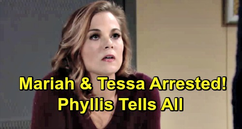 The Young and the Restless Spoilers: Mariah and Tessa Arrested Next - Phyllis Implicates Couple In J.T. Crime