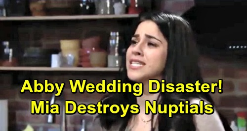 The Young and the Restless Spoilers: Abby and Arturo's Wedding Disaster – Troublemaker Mia Destroys Nuptials?