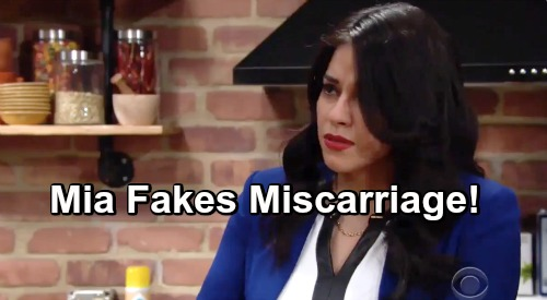 The Young and the Restless Spoilers: Mia Fakes Miscarriage – Rey Will Be Crushed?