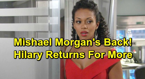 The Young and the Restless Spoilers: Mishael Morgan Returns To Y&R For More Hot Hilary Episodes