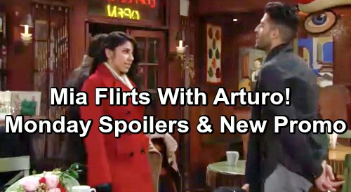 The Young and the Restless Spoilers: Monday, January 21 – New Promo - Billy Gets To Lilly Before Cane – Mia Flirts With Arturo