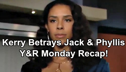 The Young and the Restless Spoilers: Monday, March 11 – Kerry Texts Secret Partner, Dupes Phyllis and Jack – Tessa's Arrest Upsets Mariah
