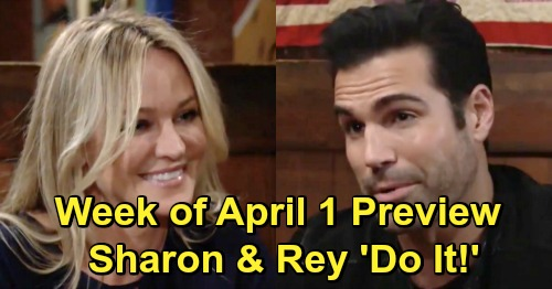 The Young and the Restless Spoilers: Week of April 1 Preview - Sharon and Rey's Passion Explodes, New Couple Makes Love