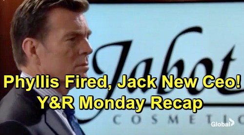 The Young and the Restless Spoilers: Monday, April 1 Recap – Phyllis Fired, Jack New CEO – Shey Gets Steamy - Vickie's In Vegas