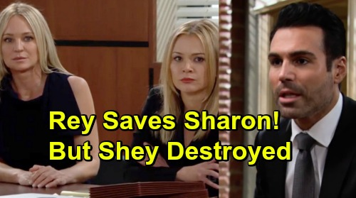 The Young and the Restless Spoilers: Rey's Love Admission Gets Sharon Acquitted - But No Future For Shey, Sharon Feels Betrayed
