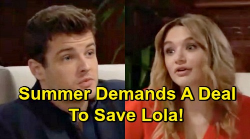 The Young and the Restless Spoilers: Kyle Forced to Make Deal for Lola's Liver – Summer Plays Dirty to Get What She Wants