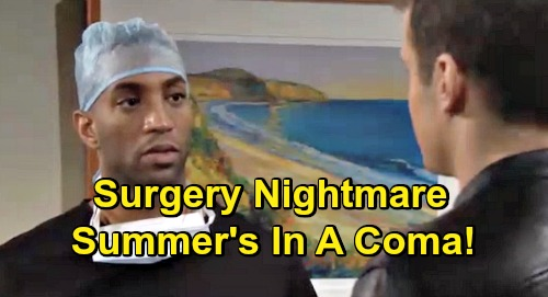 The Young and the Restless Spoilers: Nate Delivers Bad News, Summer's in a Coma After Surgery Goes Wrong