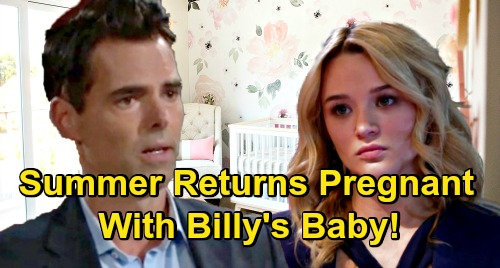 The Young and the Restless Spoilers: Summer Shakes Up GC - Returns Pregnant With Billy's Baby