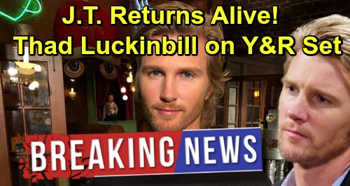 The Young and the Restless Spoilers: J.T Hellstrom's Alive In Genoa City - Thad Luckinbill Returns, Spotted on Y&R Set