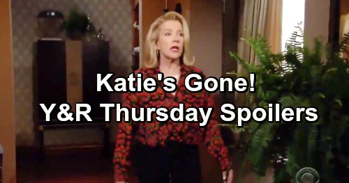 The Young and the Restless Spoilers: Thursday, January 31 – Katie Disappears – Nick Loses His Temper – Fen and Kyle's Photoshoot
