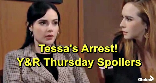 The Young and the Restless Spoilers: Thursday, March 7 – Kerry's Surprising Decision – Tessa's Arrest – Rey's Stunning Testimony