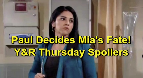 The Young and the Restless Spoilers: Thursday, May 16 – Sharon in Familiar Adam Territory – Nate Pursues Abby – Paul Decides Mia's Fate