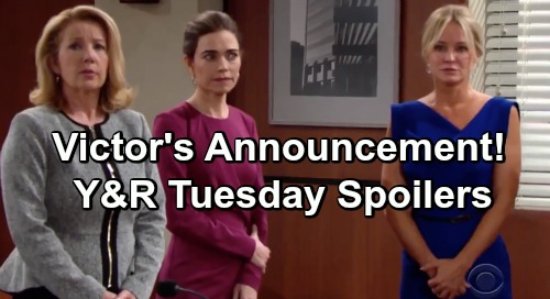 The Young and the Restless Spoilers: Tuesday, March 12 – Victor's Announcement – Kerry Bamboozles Jack – Abby Suspects Summer
