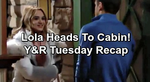 The Young and the Restless Spoilers: Tuesday, February 12 Update – Billy Blames J.T. – Lola Heads To Cabin Shocker
