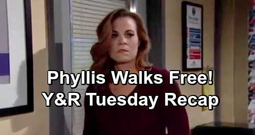 The Young and the Restless Spoilers: Tuesday, February 19 Update – Phyllis Walks Free After Snitching – Mariah Interrogated