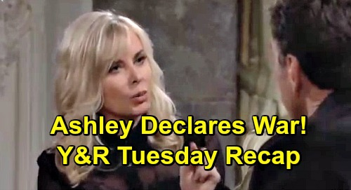 The Young and the Restless Spoilers: Tuesday, April 2 Recap – Lola Hides Health Woes – Hilary Haunts Devon – Ashley Declares War