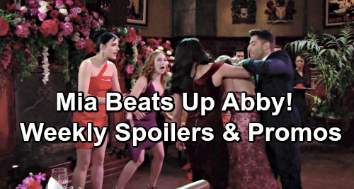 The Young and the Restless Spoilers: Valentine's Week Preview – Mia Beats Up Abby - Shey Declares Love – Summer and Kyle Hookup