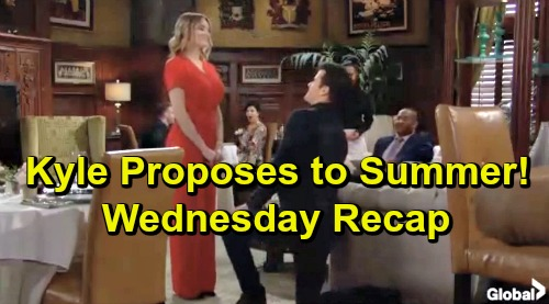 The Young and the Restless Spoilers: Wednesday, March 6 Recap – Kyle Proposes To Summer - Court Hears Tessa Blackmail and Kidnapping